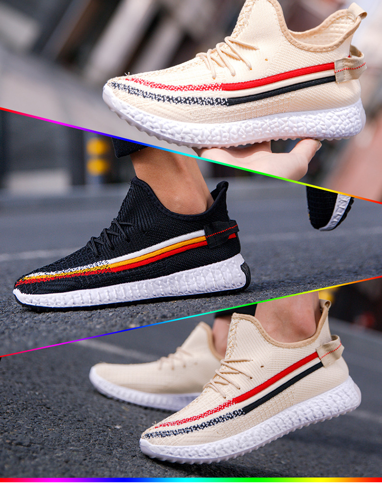 Couple Wear Unisex Breathable Lightweight Flying Woven Shoes Womens Trainers For Women Men