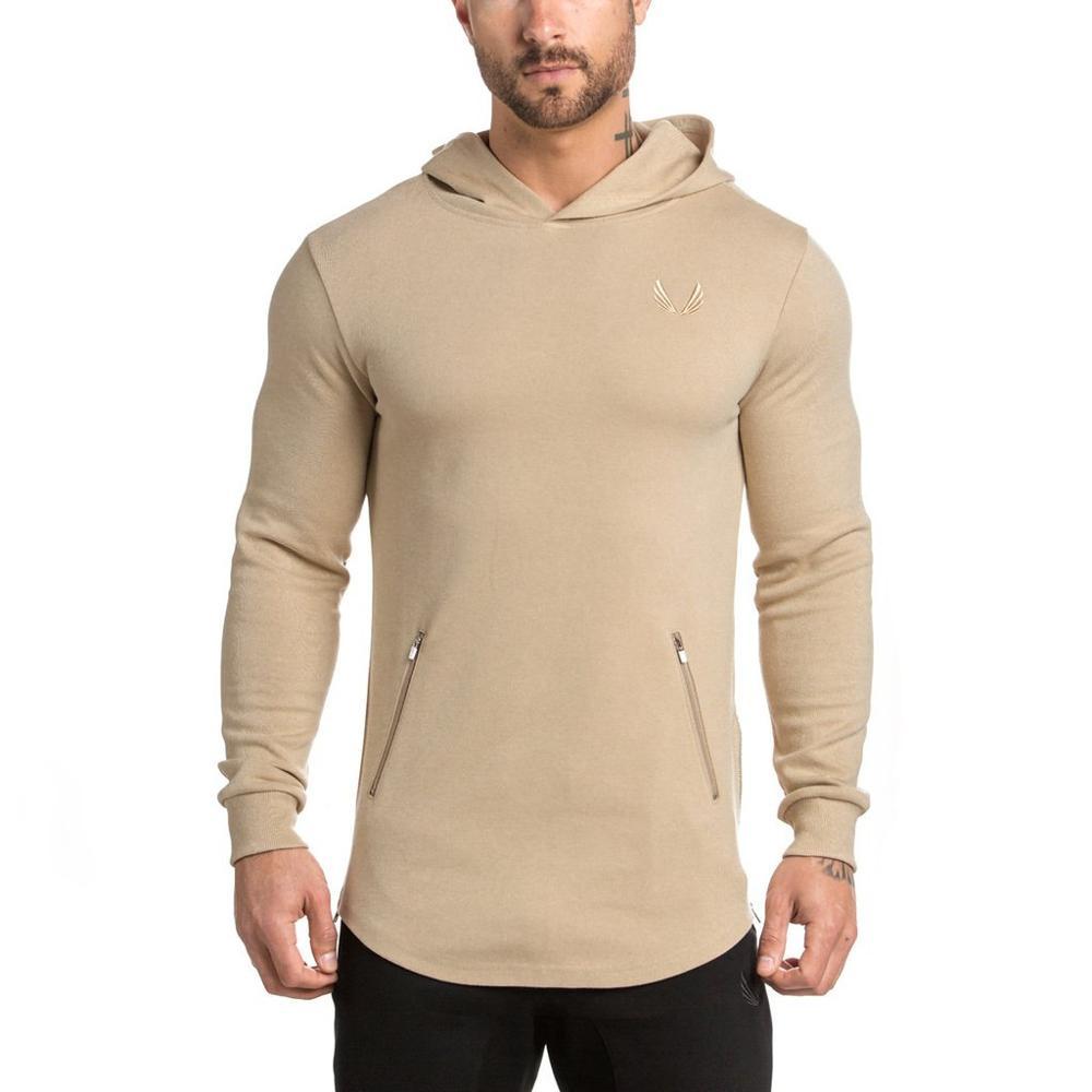 Alibaba.com / 2019 wholesale cotton polyester blending men custom OEM logo printed plain blank sport gym pullover hoodies