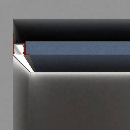 China wall edge corner recessed illumination led aluminum profile channel for cove lighting