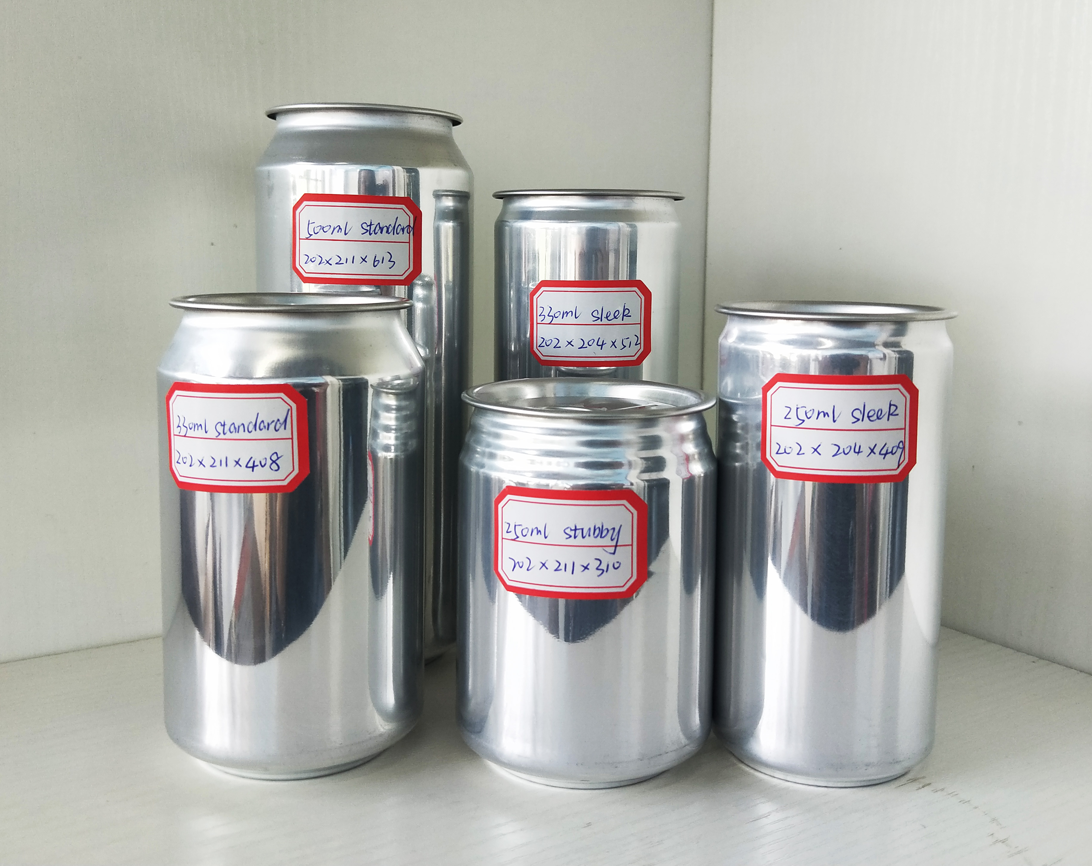 330ml Empty Sleek Aluminum Can for carbonated drink beer soda