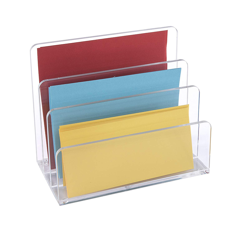 Logo printed Manufactory transparent Child Acrylic file Display holder books display rack in home use