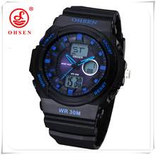 OHSEN часы модные уличные спортивные часы мужские часы многофункциональные часы будильник женские водонепроницаемые цифровые часы распрода...(China)
