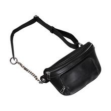 Женская поясная сумка MABULA, модная кожаная поясная сумка для путешествий, Спортивная нагрудная сумка, кошелек для телефона с металлической ц...(Китай)