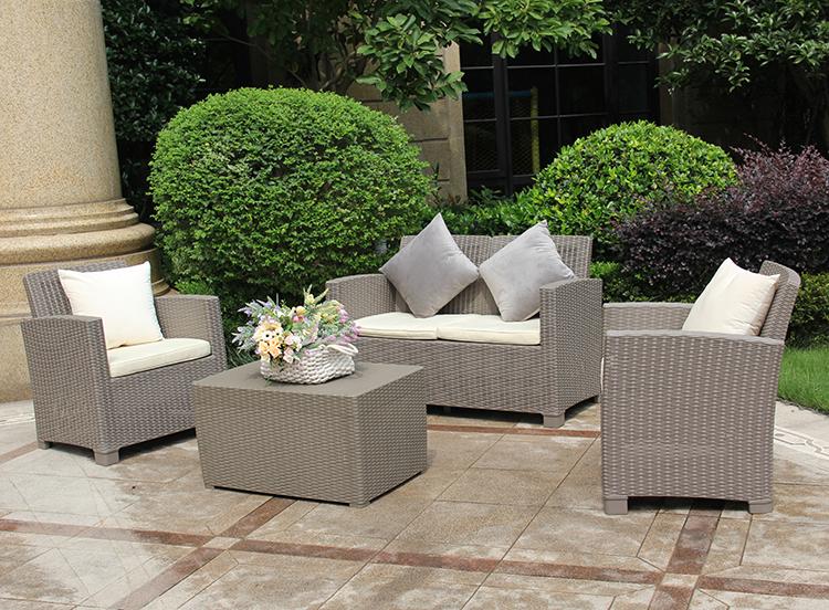 Venta caliente impermeable al aire libre patio decoración jardín Muebles de Polonia