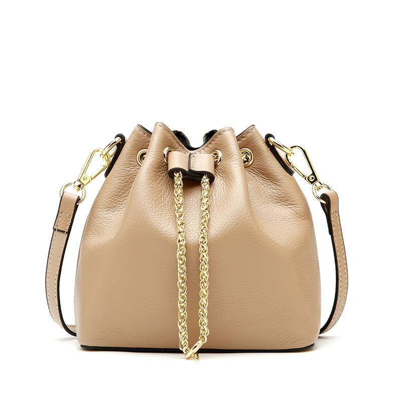 100% женские сумки из натуральной кожи, роскошные сумки, женские сумки через плечо, дизайнерские сумки с завязками, вместительные женские сум...(Китай)