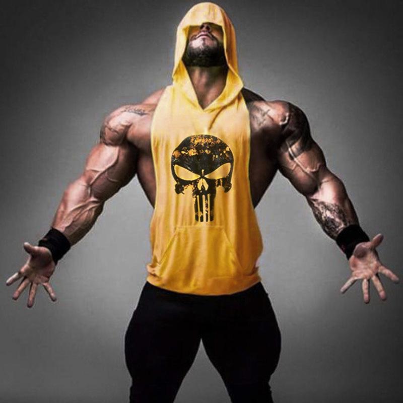 Men's Sleeveless Muscle tee Hoodies Apparel / Mens Custom gym Sleeveless Hoodie