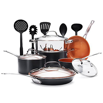 aluminum non stick cooking pot set