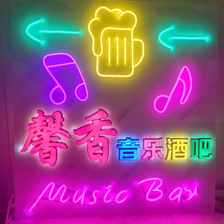 Supplies flex neon love club party light bar decor china boy live nudes skull lips custom neon signs