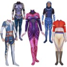 Halloween European and American cards zentai Unisex Lycra Spandex Magic the Gathering Jace cosplay Costume adults kids Tights