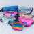 custom travel small translucent holographic plastic jelly pvc shoulder waist bag