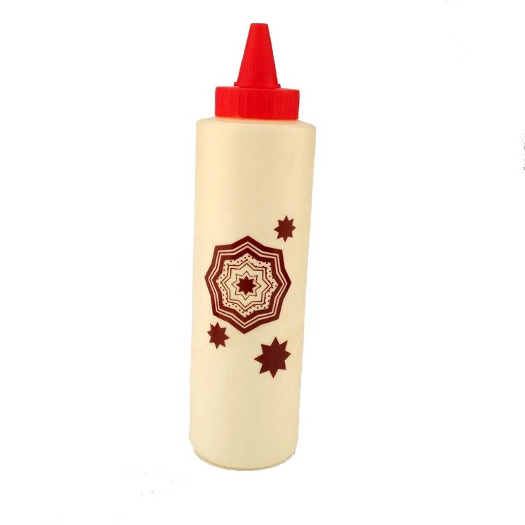 Hot sale Color Plastic squeezed sauce dispenser bottle