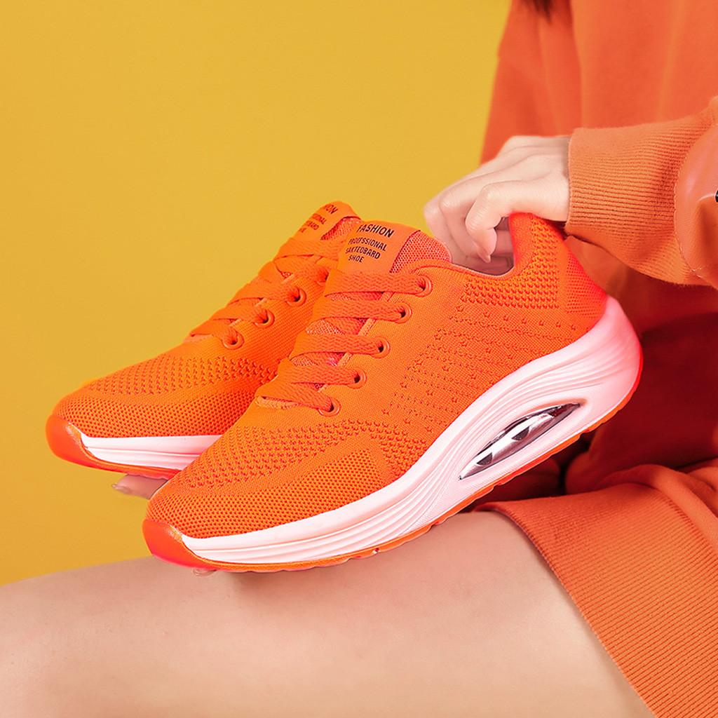 Orange Sneakers Comfortable Air Cushion