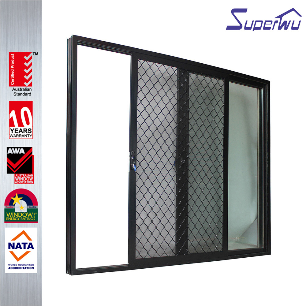Modern hurricane impact  partition wall glass aluminium sliding doors
