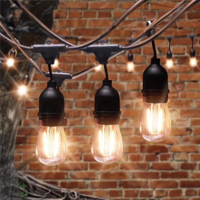 rubber festoon/e27/b22 light strip e27 bulb holder small bulbs string light e27 festoon droppers garland e27