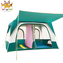 RTS 5 + Persoon Tent Grote Ruimte Waterdichte Opvouwbare Luxe Resort Outdoor 2 Kamer Familie Camping Tent 6 Persoon