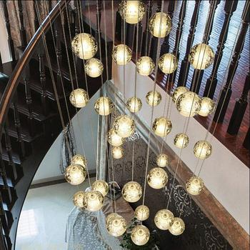 Coffee Shop Personality Art Deco Lighting Modern Led Pendant Lamp Contracted Crystal Ball Pendant Lights Restaurant