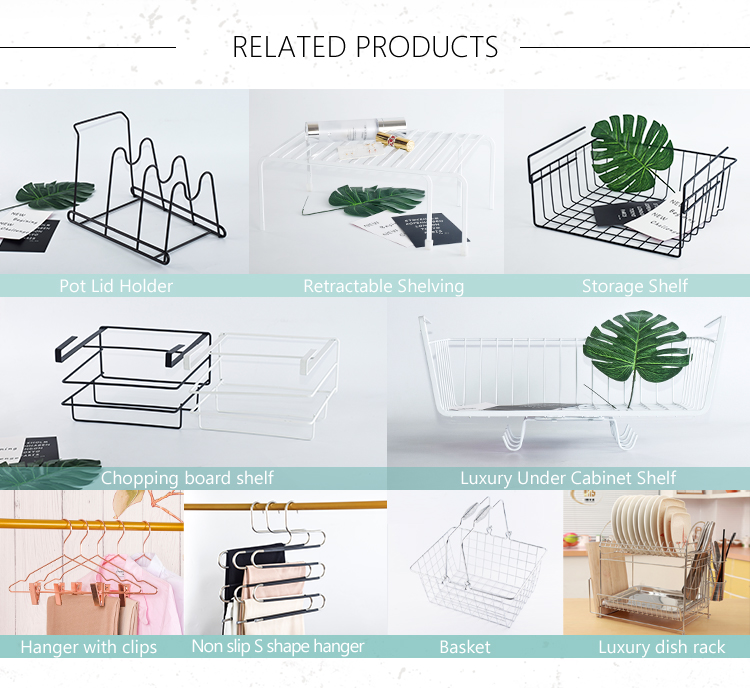Foshan factory wire shelf kitchen organizer fruit basket under cabinet kitchen racks and holders metal storage baskets