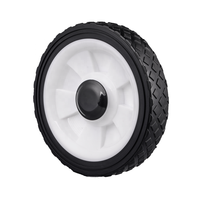 High quality 7 inch wheel plastic pp wheel for snowblower, dolly trolley, cultivator, power tiller