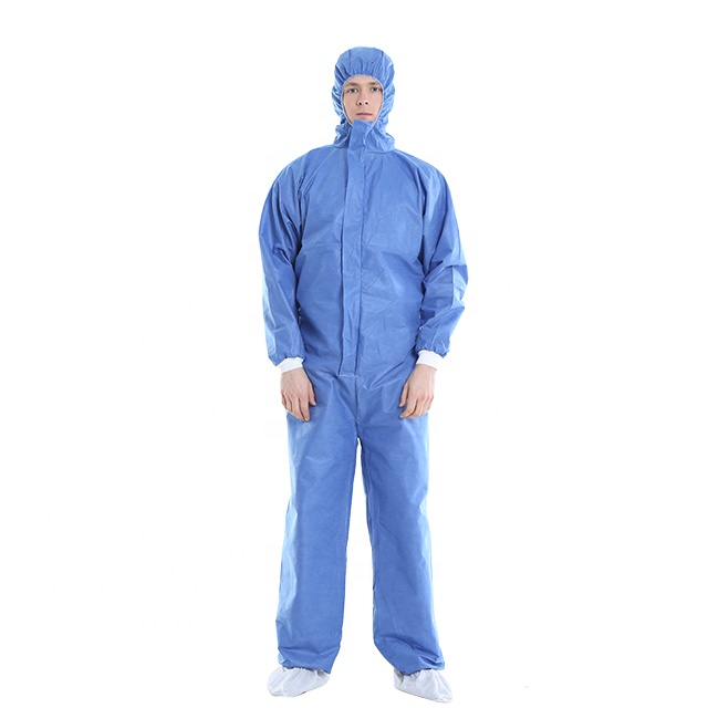 Disposable SMS Cheap Coveralls/Workwear Overall/Protective Clothing Microporous