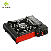 Outdoor Camping Mini auto Ignition Butane Lpg Single Burner Gas Bbq Grill, Cooking Stoves Gas Cooker Portable Gas Stove