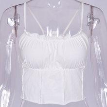 Женский укороченный топ TIESOME, облегающий короткий топ, летняя футболка без рукавов с милым грибом, пляжная одежда 2020(Китай)
