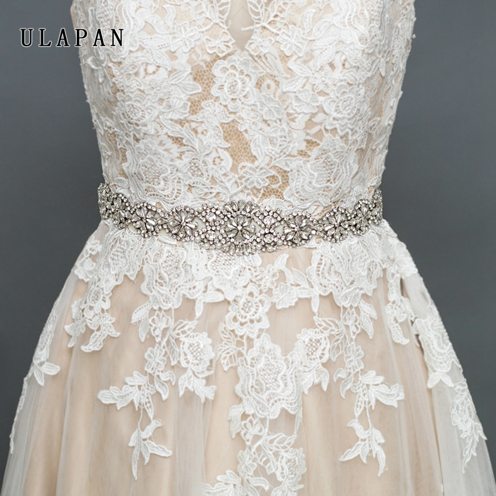 YouLaPan S161A Best Selling Crystal Beads Flower Rhinestone Bridal Belt for Wedding
