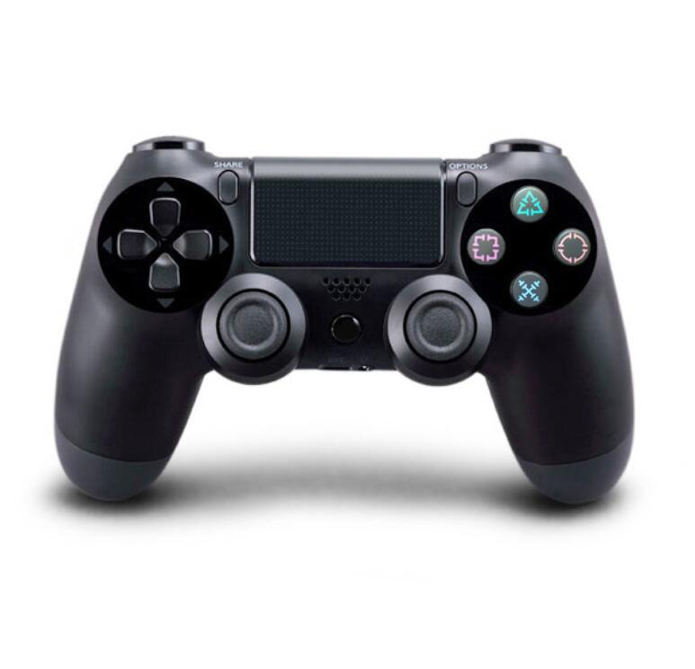Black wireless PS4 game controller compatible with PC