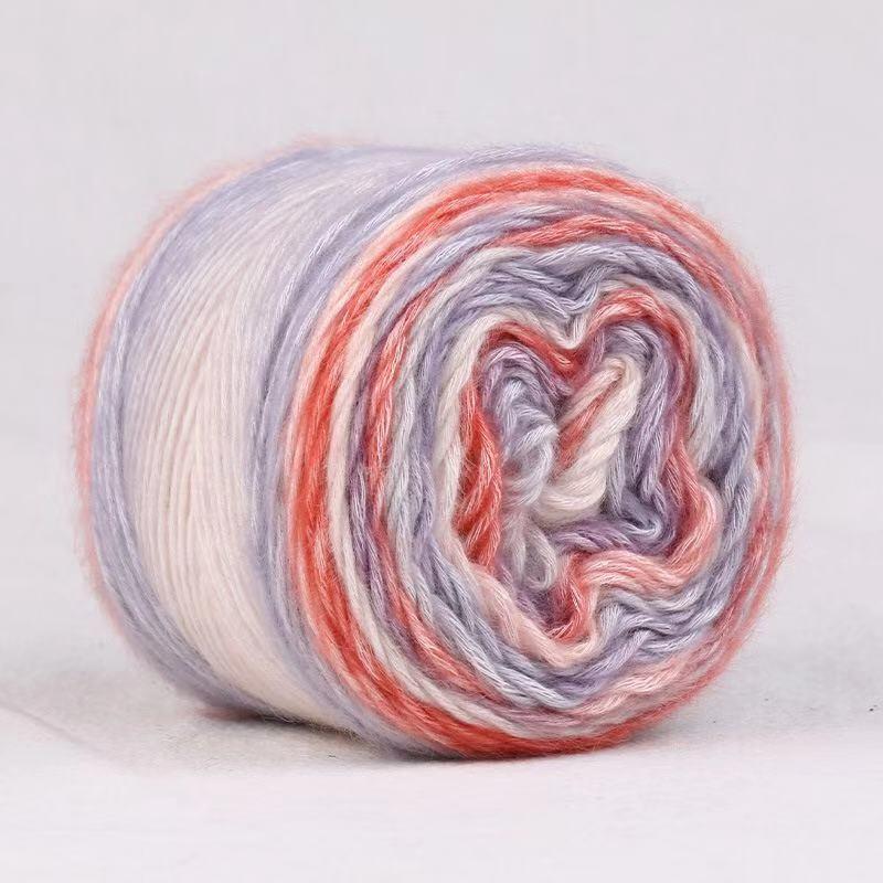 100g Rainbow Color Thick Warm DIY Crochet Knitting Hand-woven Milk Soft Baby Cotton Crochet yarn