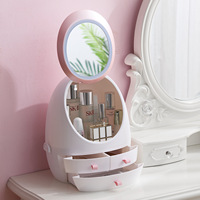 Wholesale 360-degree Drawer Makeup Organizer Storage With Mirror Led Light