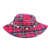 Cotton-dyed plaid fabric with diamond fisherman hat printed flower pot cap