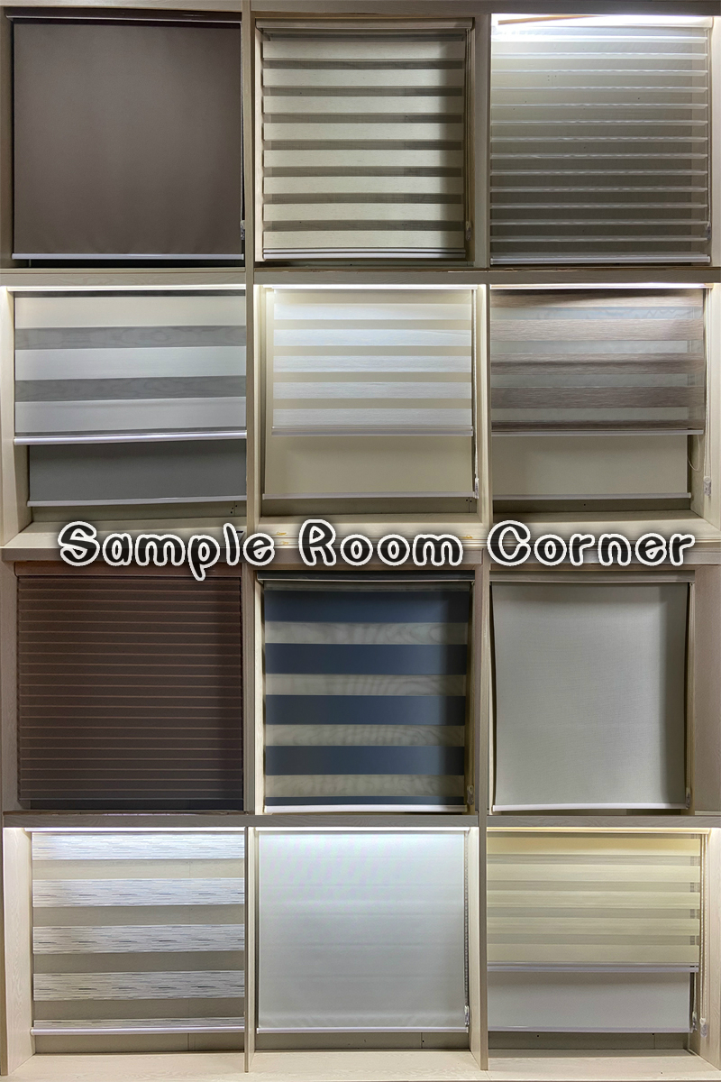 Ready made windows roller blind curtains blackout shangri-la roller triple shade blinds