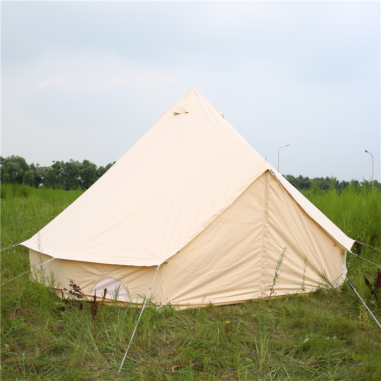 3m 4m 5m 6m 7m camping tent waterproof canvas bell tent with stove hole