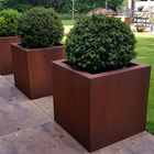 Metal Flower Pot Metal Corten Steel Metal Flower Pot