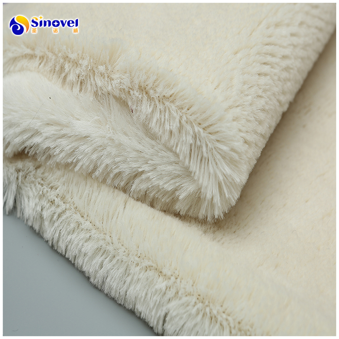 Polyester Knitted Minky PV Plush Fabric