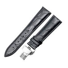 Ремешок из натуральной кожи аллигатора для мужчин и женщин, аксессуары для часов 14 мм 16 мм 18 мм 19 мм 20 мм 21 мм 22 мм(Китай)