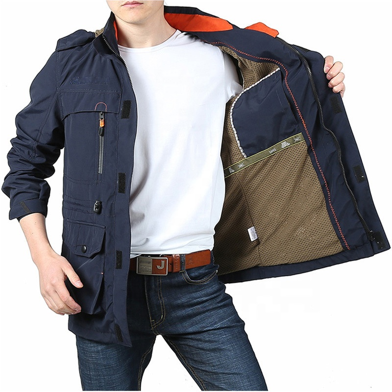 2020 High Quality Custom Windproof Mens Long Warm Winter Coat Parka Overcoat Jacket With Removable Hooded