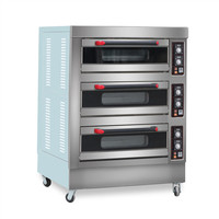 3 Decks 6 Trays Electric Bakery Cake Pastry Big Oven for Baking