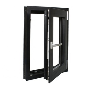 Thermal break Low-E glass aluminum frame french window manufacturer
