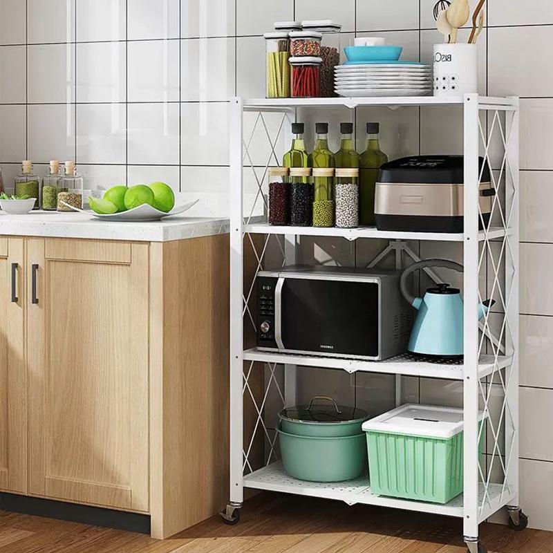 Metal shelf Over Washing Machine Space Saving Storage Rack For Kitchen Bathroom Living Room