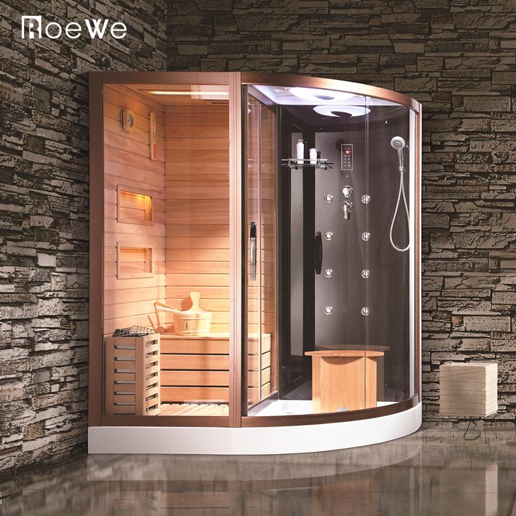 Kabin Pancuran Uap Desain Modern, Kamar Mandi Mewah Dalam Ruangan Ruang Sauna Kombinasi Pancuran Di Foshan
