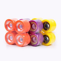 wholesale China 70mm custom printed slide polish custom skateboard longbard wheel set