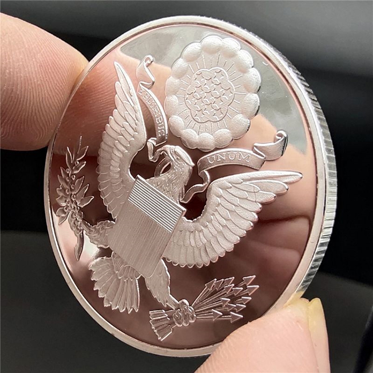 Commemorative Collection Gift Souvenir Art Metal Silver Plated Coins