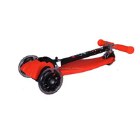 Amazing Wholesale Price Nylon with Glass Fiber Reinforced Pedal Three Flash Wheels Foldable Kids Scooter, Kids Kick Scooter