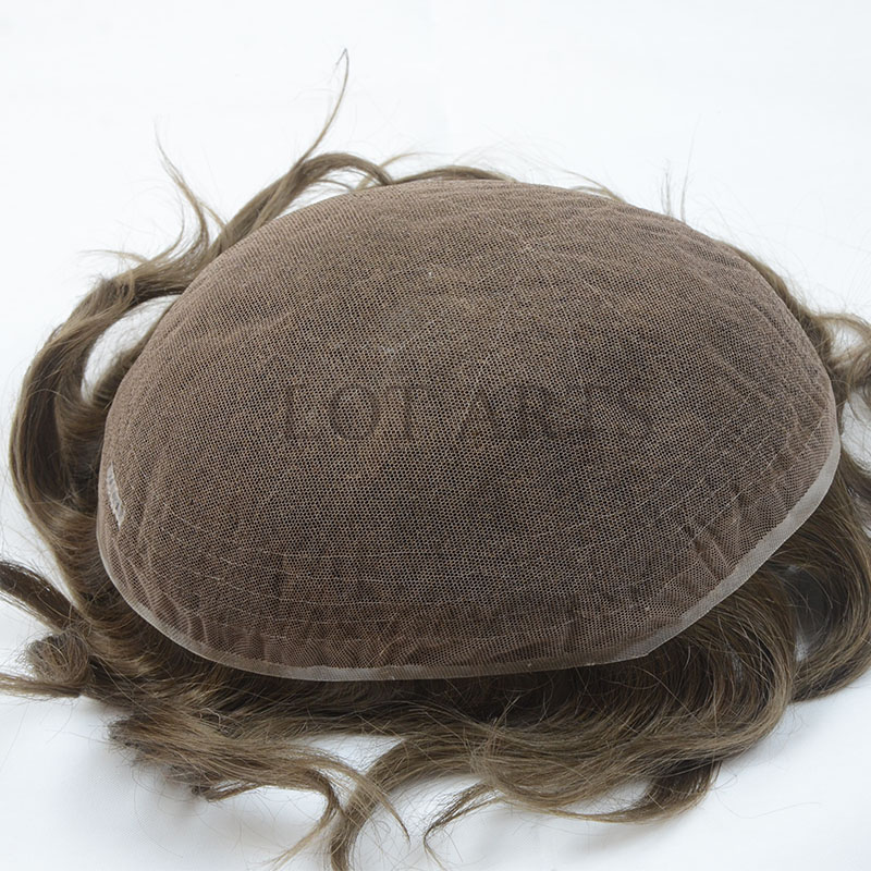 Non surgical hair replacement system full swiss lace mens toupee