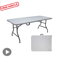 Lifetime 6FT HDPE Plastic Folding Table Suitcase Picnic Foldable Outdoor Table Manufacturer