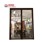 Wooden Window Small Size Handle Thin Frame Copper Wood Tilt Turn Opening Window