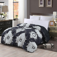 Twin size comforter printed comforter microfiber fabric wholesale products china