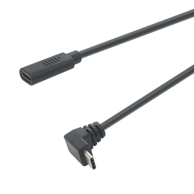 90 Derajat Right Angel Type C untuk USB Tipe C Kabel