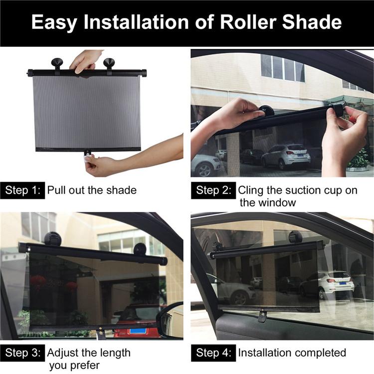Auto Car Heat Insulation Sun Shade Side Window Cover Roller Telescopic Retractable Block Automotive Cars Sun Insulation Sunshade