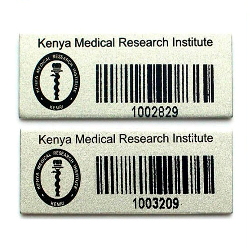 prototype tagging printed metal aluminium asset tag metal aluminium barcode <strong>labels</strong> for custom <strong>label</strong>
